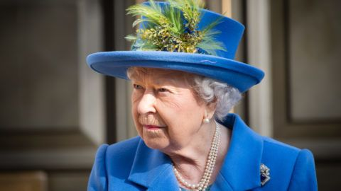 LONDON, ENGLAND - FEBRUARY 14:  Queen Elizabeth II visits Watergate House to mark the centenary Of GCHQ at Watergate House on February 14, 2019 in London, England. (Photo by Samir Hussein/Samir Hussein/WireImage)