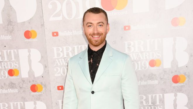 LONDON, ENGLAND - FEBRUARY 20: Sam Smith attends The BRIT Awards 2019 held at The O2 Arena on February 20, 2019 in London, England. (Photo by Dave J Hogan/Getty Images)