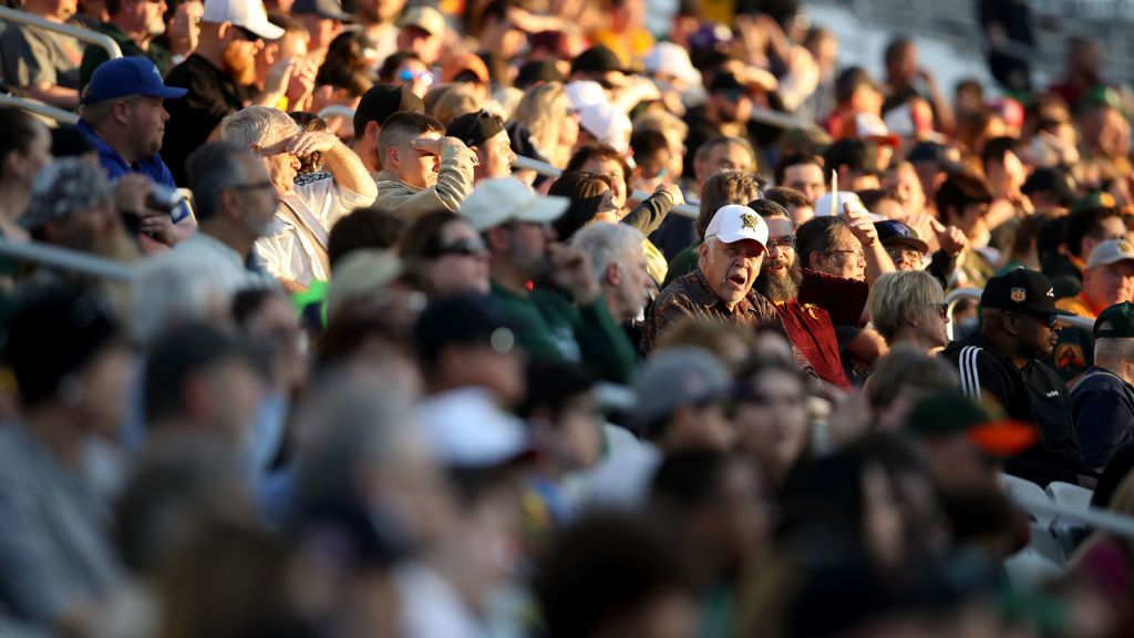 TEMPE, ARIZONA - MARCH 03:  Fans attend the Alliance of American Football game between the Atlanta Legends and the Arizona Hotshots at Sun Devil Stadium on March 03, 2019 in Tempe, Arizona. (Photo by Christian Petersen/AAF/Getty Images)