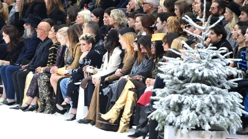 PARIS, FRANCE - MARCH 05: A general view of the front row during the Chanel show as part of the Paris Fashion Week Womenswear Fall/Winter 2019/2020 on March 05, 2019 in Paris, France. (Photo by Pascal Le Segretain/Getty Images)