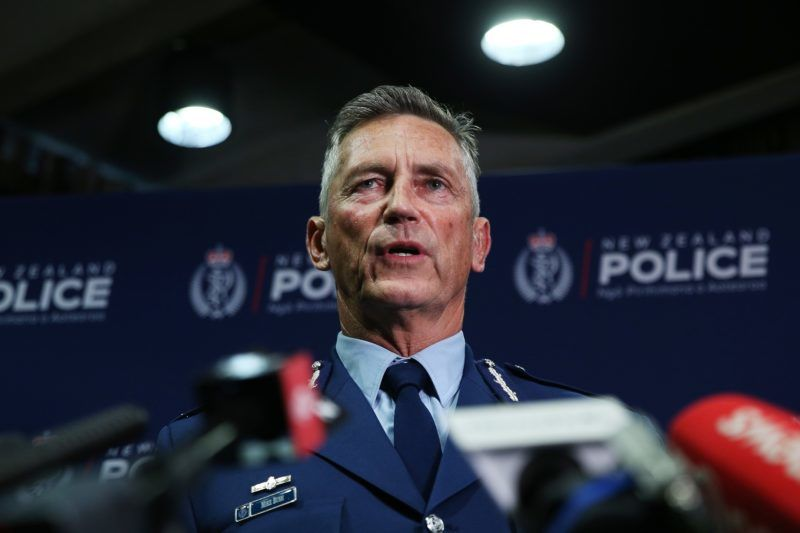 WELLINGTON, NEW ZEALAND - MARCH 15: Police Commissioner Mike Bush speaks to media during a press conference at Royal Society Te Aparangi on March 15, 2019 in Wellington, New Zealand. One person is in custody and police are searching for another gunmen following several shootings at mosques in Christchurch. Police have not confirmed the number of casualties or fatalities. All schools and businesses are in lock down as police continue to search for other gunmen. (Photo by Hagen Hopkins/Getty Images)