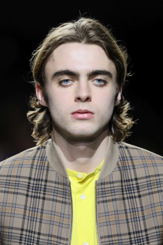 LONDON, ENGLAND - MARCH 21: Lennon Gallagher walks the runway at Hermes: Step Into The Frame at Nine Elms, on March 21, 2019 in London, England. (Photo by David M. Benett/Dave Benett/Getty Images for Hermes)