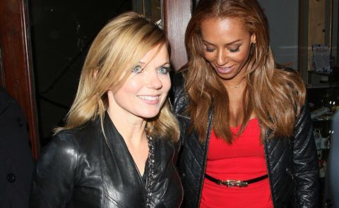 LONDON, UNITED KINGDOM - FEBRUARY 07: Geri Halliwell and Melanie Brown at Viva Forever the musical on February 7, 2013 in London, England. (Photo by Mark Milan/FilmMagic)