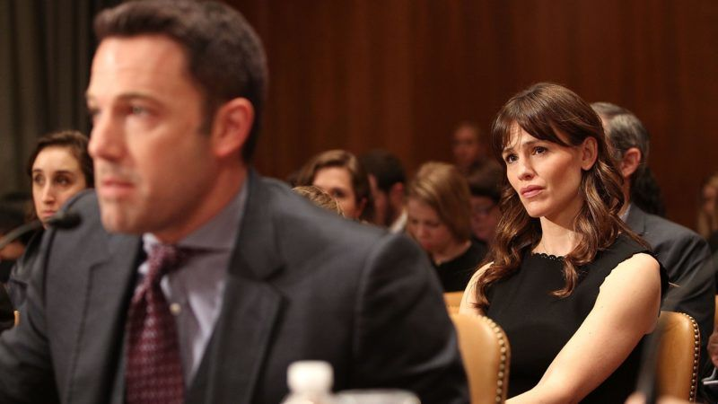 """WASHINGTON, DC - MARCH 26:  Actress Jennifer Garner listens as her husband, actor Ben Affleck, testifies before a Senate Appropriations State, Foreign Operations, and Related Programs Subcommittee hearing on """"Diplomacy, Development, and National Security"""" on Capitol Hill in Washington March 26, 2015.  (Photo by Paul Morigi/WireImage)"""
