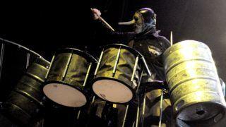 SAN ANTONIO - JULY 26:  Percussionist Chris Fehnand the band Slipknot headline the Rockstar Energy Mayhem Festival at the Verizon Wireless Amphitheater on July 26, 2008 in San Antonio, Texas.  (Photo by Gary Miller/FilmMagic)