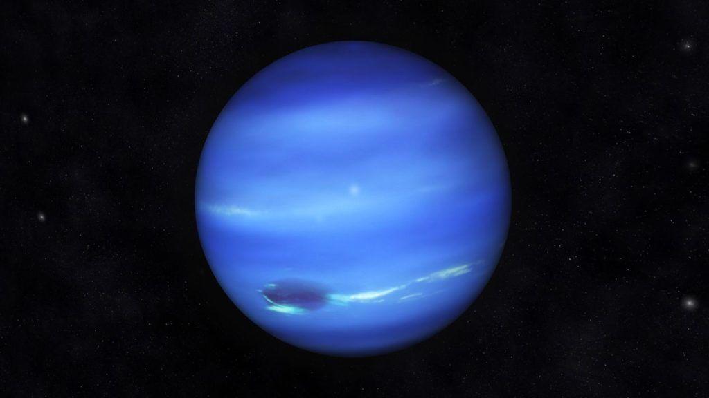 Digital Illustration of Planet Neptune