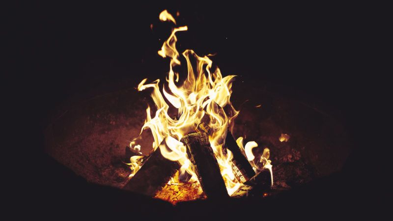 Campfire in Slovenia