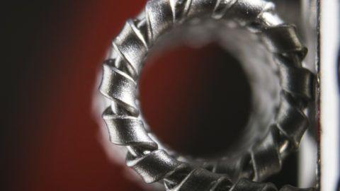 side veiw of a clapton vape coil for e-cigarette, e-cig.
