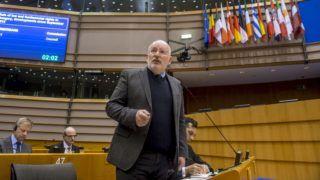 Brüsszel, 2019. január 31. Az Európai Parlament honlapján közreadott képen Frans Timmermans, az Európai Bizottság elsõ alelnöke felszólal a jogállamiság magyarországi helyzetérõl tartott vitán a parlament plenáris ülésén Brüsszelben 2019. január 30-án. MTI/Európai Parlament/Jan Van de Vel