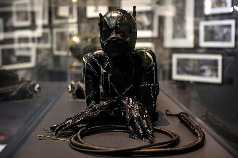 LONDON, ENGLAND - FEBRUARY 22: A Catwoman costume from the 1992 Batman Returns film worn by Michelle Pfeiffer and designed by Rob Ringwood and Mary Vogt is on display at the DC Comics Exhibition: Dawn Of Super Heroes at the O2 Arena on February 22, 2018 in London, England. The exhibition, which opens on February 23rd, features 45 original costumes, models and props used in DC Comics productions including the Batman, Wonder Woman and Superman films. (Photo by Jack Taylor/Getty Images)