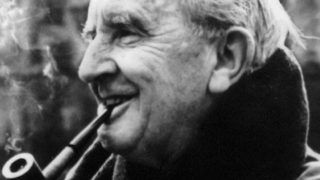 Undated photo of writer J.R. Tolkien.  Eds Note:  B/W only. (Photo by HO / AFP)
