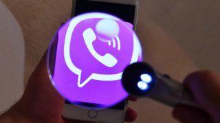 3057316 03/25/2017 The Viber messenger logo on a smartphone screen./Sputnik