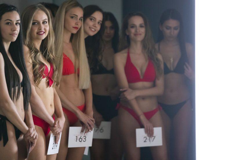 Budapest, 2019. április 28. A Magyarország Szépe (Miss World Hungary) szégpségverseny válogatójának résztvevõi a budapesti Flashback Fotóstúdióban 2019. április 28-án. MTI/Mohai Balázs