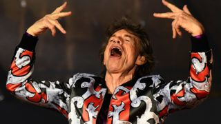 """(FILES) In this file photo taken on June 26, 2018 British musician Mick Jagger of The Rolling Stones performs during a concert at The Velodrome Stadium in Marseille on June 26, 2018, as part of their 'No Filter' tour. - British rock icon Mick Jagger said on March 30, 2019 he was """"devastated"""" after his Rolling Stones were forced to cancel their United States and Canada tour dates so he could receive """"medical treatment"""". (Photo by Boris HORVAT / AFP)"""