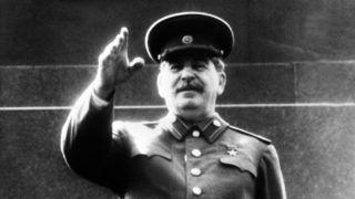 "An undated portrait shows Yossif Vissarionovitch Dzhugashvili known as Josef Stalin, Soviet head of state (""man of steel"", 1879-1953) waving.    AFP PHOTO (Photo by ARCHIVE / AFP)"