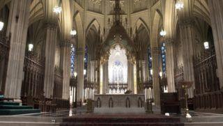 Inside St Patrick's Cathedral, 5th Avenue, Midtown Manhattan, New York City USA - November 2017 | usage worldwide