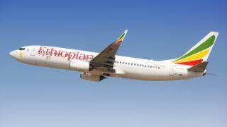 Tel Aviv, Israel ? February 24, 2019: Ethiopian Airlines Boeing 737-800 airplane at Tel Aviv airport (TLV) in Israel. | usage worldwide