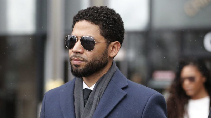 """CHICAGO, IL - MARCH 14: Actor Jussie Smollett leaves Leighton Criminal Courthouse after his court appearance on March 14, 2019 in Chicago, Illinois. Smollett stands accused of arranging a homophobic, racist attack against himself in an attempt to raise his profile because he was dissatisfied with his salary on the Fox television drama """"Empire.""""   Nuccio DiNuzzo/Getty Images/AFP"""