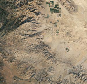 Az űrből is látni a sivatagi szupervirágzást 1