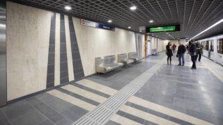 Budapest, 2019. március 30. A megújult Árpád hídi metróállomás 2019. március 30-án. Ezen napon átadták a 3-as metróvonal felújított északi, az Újpest-központ és Dózsa György út közötti szakaszát. MTI/Mohai Balázs
