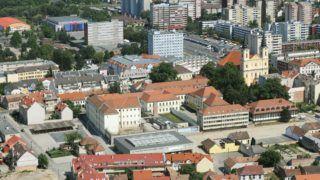 Zalaegerszeg, 2011. június 12. Zalaegerszeg látképe, jobbra a Mária Magdolna-templom látható.  MTI Fotó: H. Szabó Sándor