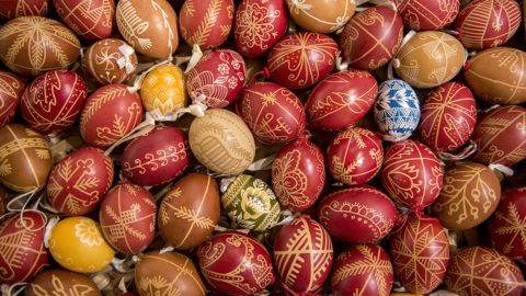Zengővárkony, 2019. április 16.Hímes tojások a zengővárkonyi Míves tojás múzeumban 2019. április 16-án.MTI/Sóki Tamás