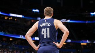 ORLANDO, FL - MARCH 8: A back view of Dirk Nowitzki #41 of the Dallas Mavericks during the game against the Orlando Magic at the Amway Center on March 8, 2019 in Orlando, Florida. The Magic defeated the Mavericks 111 to 106. NOTE TO USER: User expressly acknowledges and agrees that, by downloading and or using this photograph, User is consenting to the terms and conditions of the Getty Images License Agreement. (Photo by Don Juan Moore/Getty Images)