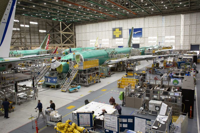 FILE: Boeing Co. 737 Max airplanes are seen at the company's manufacturing facility in Renton, Washington, U.S., on Wednesday, March 27, 2019. Boeing Co. Chief Executive Officer Dennis Muilenburg apologized Thursday for the 346 lives lost in crashes of Boeing 737 MAX 8 aircraft in Indonesia and Ethiopia, according to a letter made public on the company's website. Photographer: David Ryder/Bloomberg via Getty Images