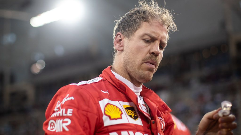 BAHRAIN, BAHRAIN - MARCH 31: Sebastian Vettel of Germany and Ferrari prepares to drive on the grid before the F1 Grand Prix of Bahrain at Bahrain International Circuit on March 31, 2019 in Bahrain, Bahrain. (Photo by Lars Baron/Getty Images)