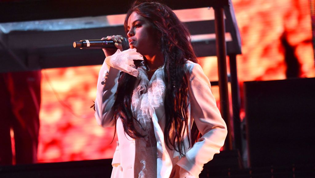INDIO, CALIFORNIA - APRIL 12: Singer Selena Gomez performs onstage on the Outdoor Stage during Weekend 1, Day 1 of the 2019 Coachella Valley Music and Arts Festival on April 12, 2019 in Indio, California. (Photo by Scott Dudelson/Getty Images for Coachella)