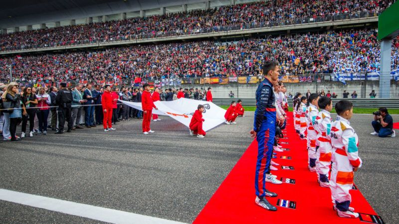 SHANGHAI, CHINA - APRIL 14:Alex Albon of Scuderia Toro Rosso and Thailand  during the F1 Grand Prix of China at Shanghai International Circuit on April 14, 2019 in Shanghai, China. (Photo by Peter Fox/Getty Images)