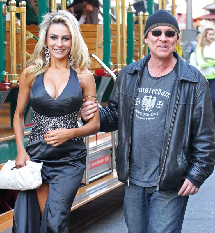 LOS ANGELES, CA - DECEMBER 06: Courtney Stodden and Doug Hutchison are seen at The Grove on December 6, 2011 in Los Angeles, California. (Photo by JB Lacroix/WireImage)