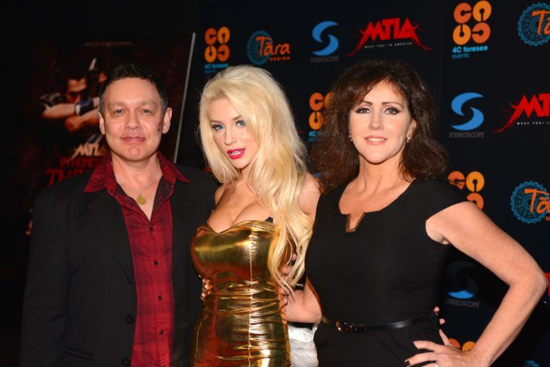 LOS ANGELES, CA - DECEMBER 01: Doug Hutchison, Courtney Stodden and Krista Keller Stodden attend the Muay Thai in America: In Honor Of The King - Celebrity VIP Event at Raleigh Studios on December 1, 2012 in Los Angeles, California. (Photo by Araya Diaz/WireImage)