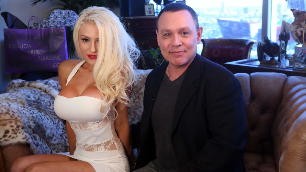 WEST HOLLYWOOD, CA - JULY 17:  TV personalities Courtney Stodden and Doug Hutchinsoni in session with Dr. Ava Cadell for The Passion and Pleasure Program on July 17, 2013 in West Hollywood, California.  (Photo by Jesse Grant/WireImage)