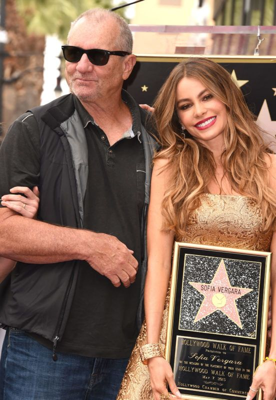 HOLLYWOOD, CA - MAY 07:  Ed O'Neill and  Sofia Vergara Honored With Star On The Hollywood Walk Of Fame on May 7, 2015 in Hollywood, California.  (Photo by Steve Granitz/WireImage)