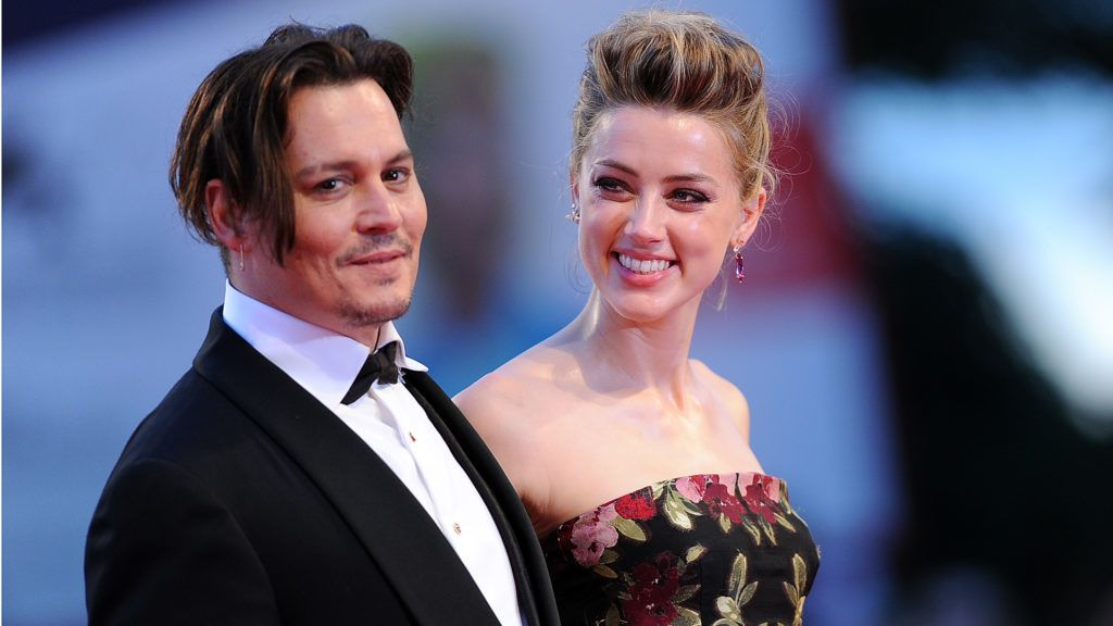 VENICE, ITALY - SEPTEMBER 05:  Johnny Depp and Amber Heard attend a premiere for 'A Danish Girl' during the 72nd Venice Film Festival at  on September 5, 2015 in Venice, Italy.  (Photo by Stefania D'Alessandro/WireImage)