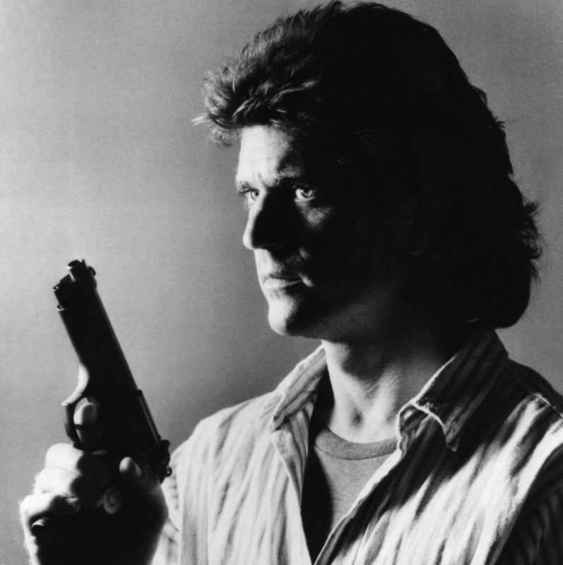 Australian-American actor Mel Gibson on the set of Lethal Weapon directed by Richard Donner. (Photo by Sunset Boulevard/Corbis via Getty Images)