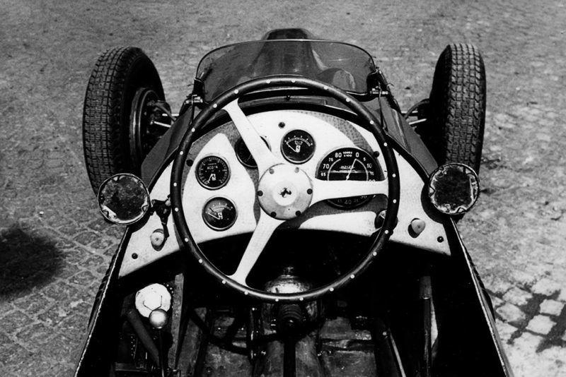 Ferrari 500, Grand Prix of Italy, Autodromo Nazionale Monza, 13 September 1953. Cockpit of the Ferrari 500. (Photo by Bernard Cahier/Getty Images)