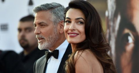 HOLLYWOOD, CA - JUNE 07:  46th AFI Life Achievement Award Recipient George Clooney (L) and Amal Clooney attend American Film Institute's 46th Life Achievement Award Gala Tribute to George Clooney at Dolby Theatre on June 7, 2018 in Hollywood, California.  390042  (Photo by Alberto E. Rodriguez/Getty Images for Turner )