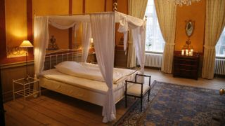 Bedroom  in the Castle of Holckenhavn, Denmark. 1600 ISO and natural lightening from the windows only.