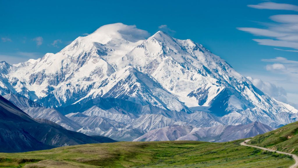 The highest mountain in North America. We are lucky to have a good weather to take pictures (the 30% club, lol). It is taken in Denali National Park and Preserve.