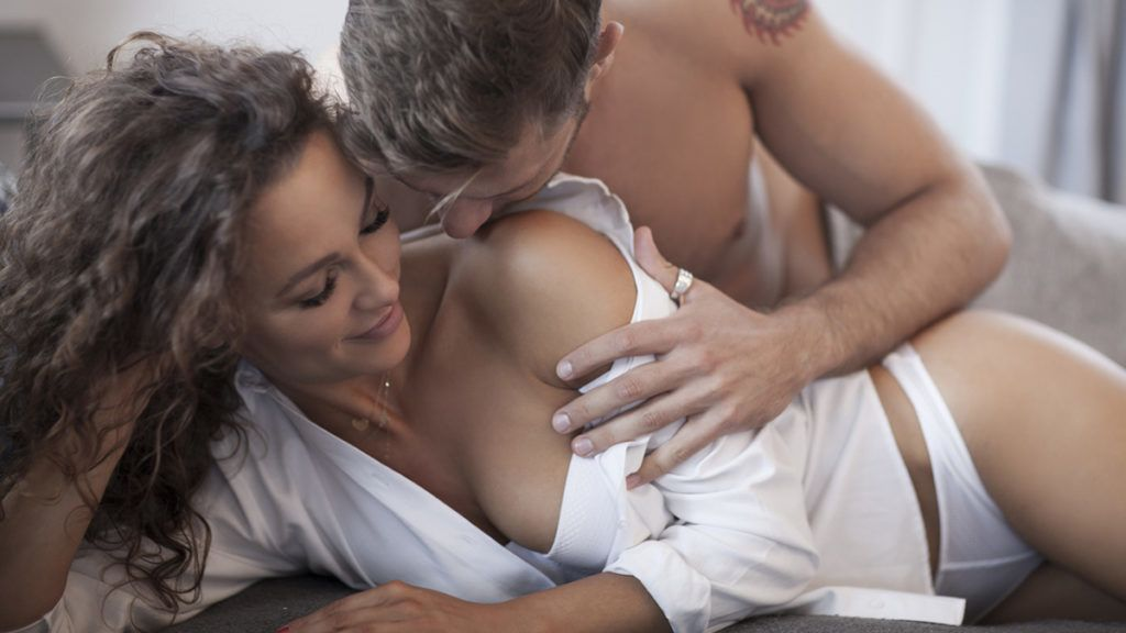 Two people making love. Togetherness.