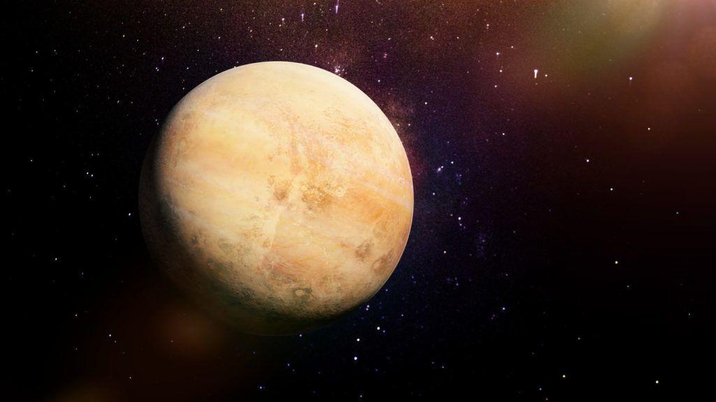 artist's impression, cloudy fantasy planet far far away