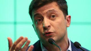 Kijev, 2019. április 22. Volodimir Zelenszkij ukrán humorista elnökjelölt sajtótájékoztatót tart, miután megnyerte az ukrán elnökválasztás második fordulóját Kijevben 2019. április 21-én. Zelenszkij a szavazatok 73,2 százalékát szerezte meg, míg Petro Porosenko hivatalban lévõ államfõt a választók 25,3 százaléka támogatta. MTI/EPA/Taccjana Zenkovics