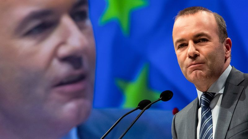 24 May 2019, Bavaria, Munich: Manfred Weber (CSU), the EPP's top candidate in the 2019 European elections, is standing during the joint final rally of the EPP, CDU and CSU European elections. Photo: Sven Hoppe/dpa