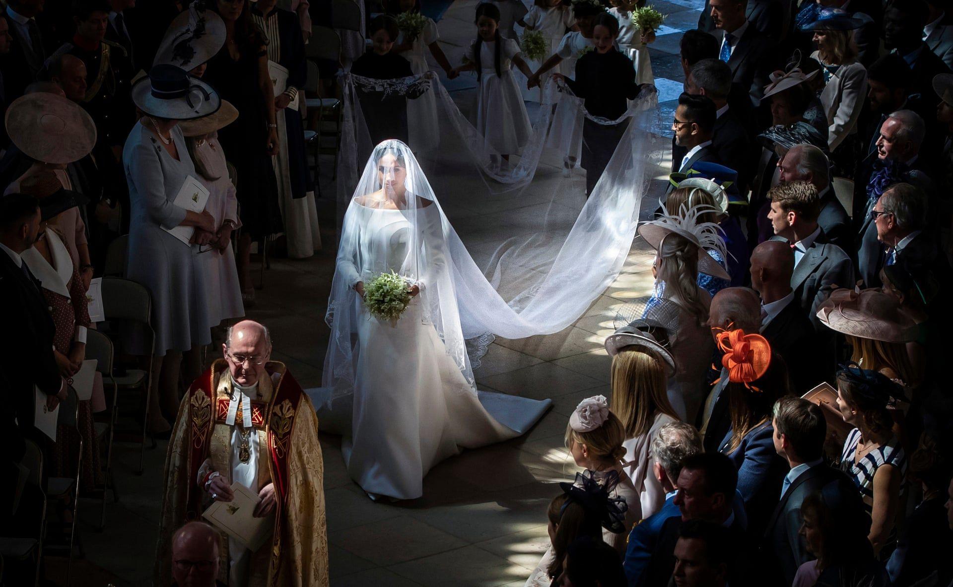 Meghan Markle és Harry herceg esküvője a Szent György kápolnában. Fotó: Danny Lawson/PA/thebppa