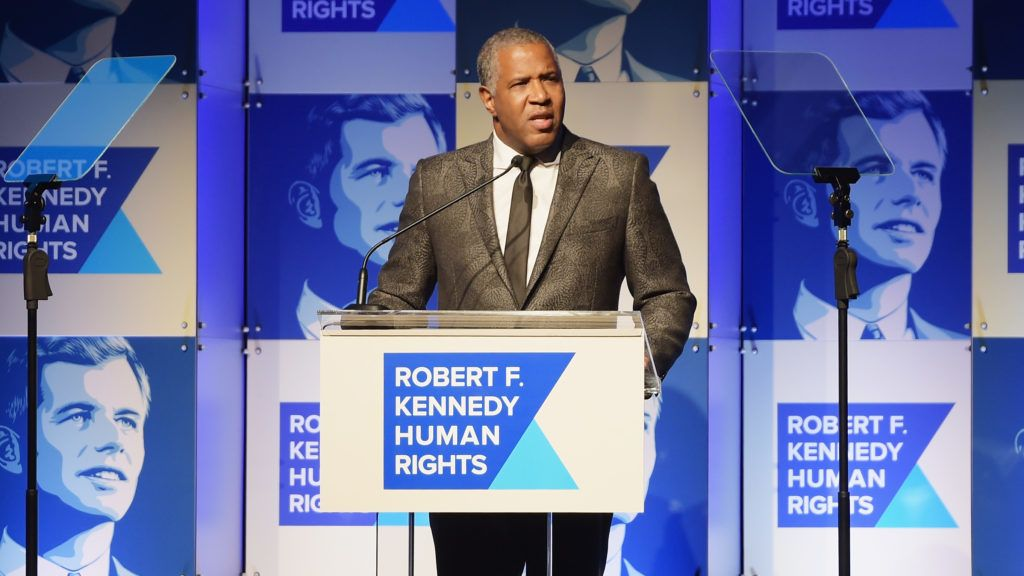 NEW YORK, NY - DECEMBER 13: Robert Smith speaks onstage during Robert F. Kennedy Human Rights Hosts Annual Ripple Of Hope Awards Dinner on December 13, 2017 in New York City.   Jason Kempin/Getty Images for Ripple Of Hope Awards/AFP