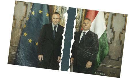 Budapest, 2015. szeptember 11.Orbán Viktor miniszterelnök (j) fogadja Manfred Webert, az Európai Néppárt frakcióvezetőjét az Országházban 2015. szeptember 11-én.MTI Fotó: Koszticsák Szilárd