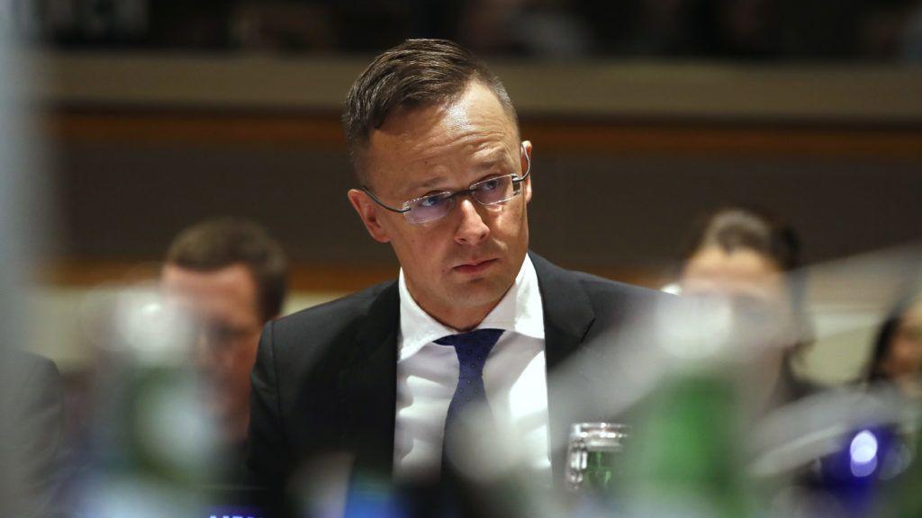New York, 2019. május 14. Szijjártó Péter külgazdasági és külügyminiszter az ENSZ gazdasági és szociális bizottságának kísérõ rendezvényén New Yorkban 2019. május 14-én. MTI/Koszticsák Szilárd
