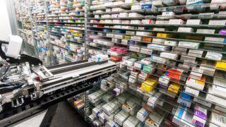 Gyõr, 2018. szeptember 11. Gyógyszertári automata robot a gyõri Szent György Patikában 2018. szeptember 11-én. MTI Fotó: Krizsán Csaba